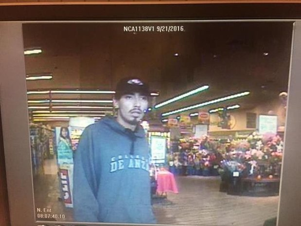 Police are seeking the public's help in identifying this man, who is wanted in connection with the attempted robbery of a 62-year-old Pacifica woman outside a Safeway on the 1100 block of El Camino Real on Wednesday.