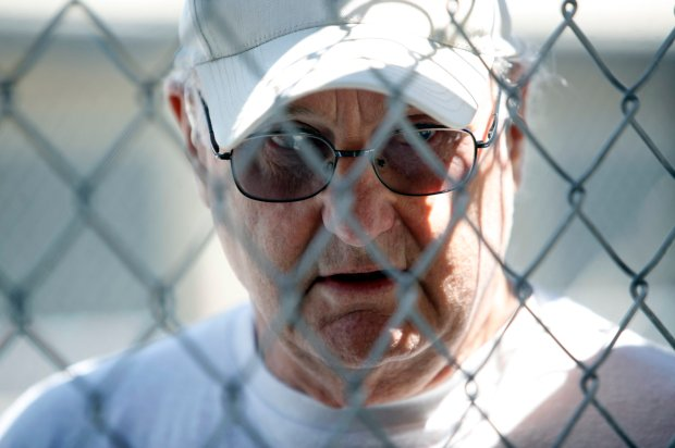 William Dennis, on death row at San Quentin State Prison for the 1984 double murder of his ex-wife Doreen Erbert and her unborn child, speaks about the upcoming death penalty propositions Monday, Aug. 15, 2016, in San Quentin, Calif. (Karl Mondon/Bay Area News Group)