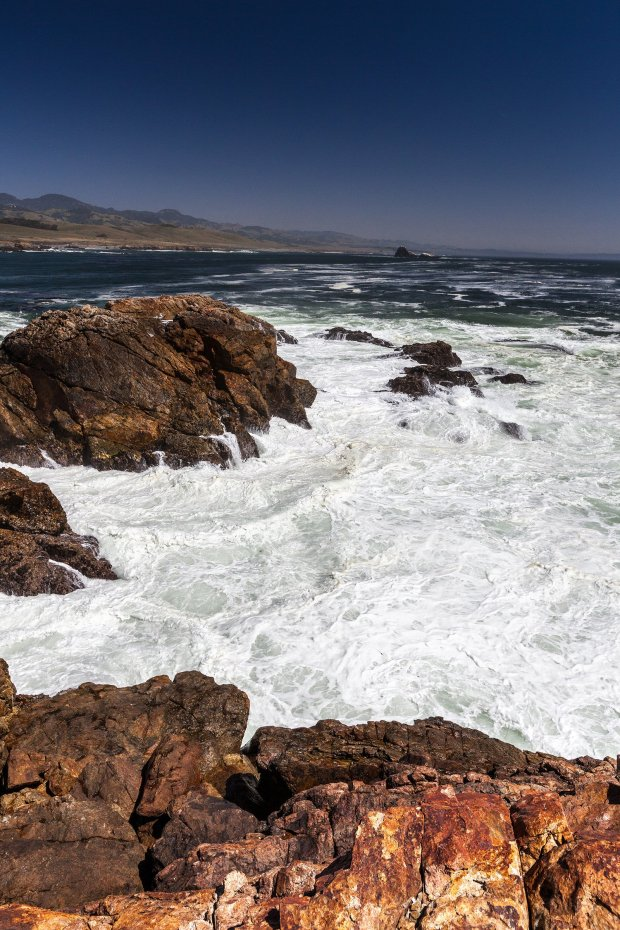 Courtesy David D. Cooper/Conservation Lands Foundation — Pictured are the waters off PIedras Blancas, an elephant seal rookery under consideration by President Barack Obama to be named a protected national monument.