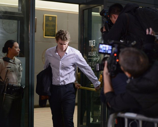Brock Turner leaves at the Santa Clara County Detention Facilty in San Jose, Calif., on Friday, Sept. 2, 2016. Turner was released after serving 3 months of his 6 month sentence for the sexual assault of an unconscious woman in January of 2015. The judge in the case, Aaron Persky, has come under fire for a sentence that many consider to be a slap on the wrist. (Dan Honda/Bay Area News Group)