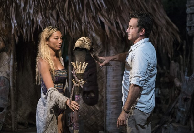 Jeff Probst extinguishes Rachel Ako's torch at Tribal Council on SURVIVOR: Millennials vs. Gen. X, when the Emmy Award-winning series returns for its 33rd season with a special 90-minute premiere, Wednesday, Sept. 21 (8:00-9:30 PM, ET/PT) on the CBS Television Network. Photo: Monty Brinton/CBS Entertainment ©2016 CBS Broadcasting, Inc. All Rights Reserved.