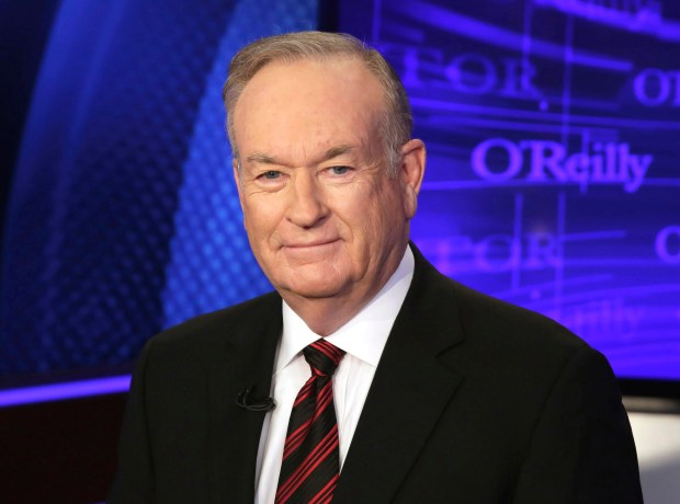 "FILE - In this Oct. 1, 2015 file photo, Bill O'Reilly of the Fox News Channel program ""The O'Reilly Factor,"" poses for photos in New York. O'Reilly responded on his show Tuesday, July 26, 2016, to first lady Michelle Obama's remarks during her speech at the Democratic National Convention Monday that she wakes up ""every morning in a house that was built by slaves."" O'Reilly said the slaves who helped build the White House ""were well-fed and had decent lodgings provided by the government."" (AP Photo/Richard Drew, File)"