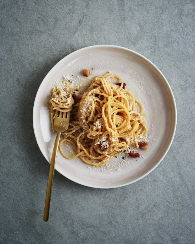 "Carbonara from Gwyneth Paltrow's ""It's All Easy."" Photo credit: Courtesy of Ditte Isager"
