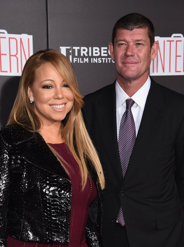 "NEW YORK, NY - SEPTEMBER 21: Mariah Carey and James Packer attend ""The Intern"" New York Premiere at Ziegfeld Theater on September 21, 2015 in New York City. (Photo by Dimitrios Kambouris/Getty Images)"