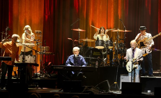 """Brian Wilson, center, performs the Beach Boys' """"Pet Sounds"""" in concert at the Masonic Auditorium in San Francisco, Calif., on Wednesday, Oct. 12, 2016. (Ray Chavez/Bay Area News Group)"""