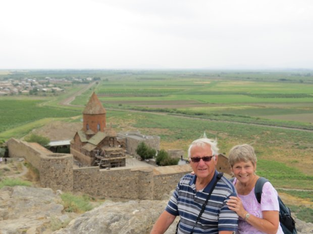ARMENIA: Benicia residents Pete and Gayle Prisegem toured Bulgaria, Romania, Georgia and Armenia, where they visited the Ararat plain to see the monastery of Khor Virap. (Courtesy of the Prisegem family)