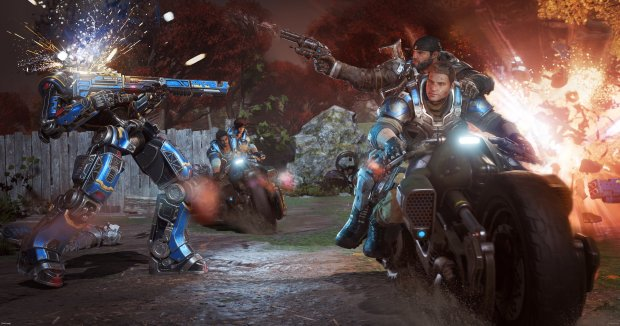 """Gears of War 4"" introduces new vehicles such as motorcycles."