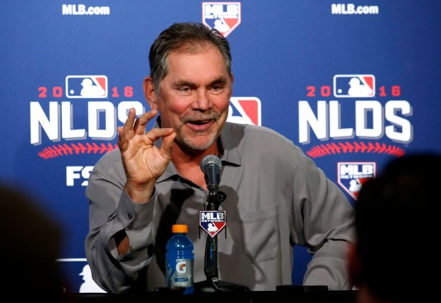 San Francisco Giants manager Bruce Bochy said the team can rely on their playoff experience. (AP Photo/Nam Y. Huh)