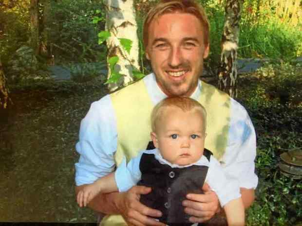 Sean Arlt, 32, seen here with his son, was shot and killed Oct. 16 by a Santa Cruz police officer. (Family of Sean Arlt -- Contributed)