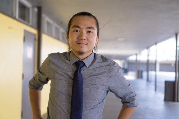 Bruce Huynh, 26, is running for a seat on the Alum Rock Union School District board of trustees.