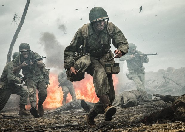 "Andrew Garfield plays a conscientious objector serving as a World War II medic on Okinawa in ""Hacksaw Ridge."" (Mark Rogers/Summit)"