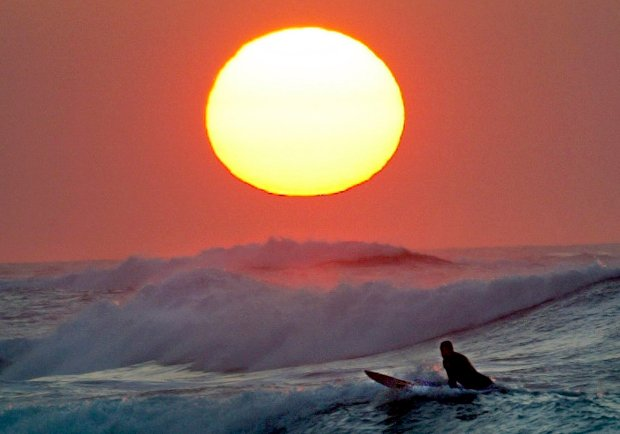 Sunset at Asilomar Beach in Pacific Grove, California. (Orville Myers Monterey County Herald)