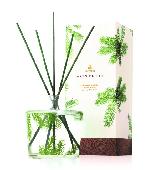 The Fraser Fir diffuser features a fresh forest scent, not a cloying one. (Thymes.com)