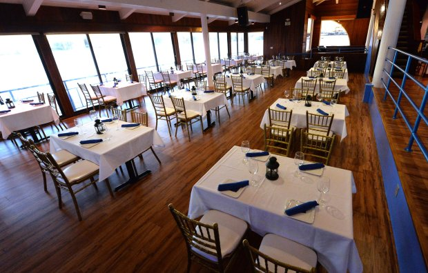Part of the dining room is photographed at Eve's Waterfront restaurant in Oakland, Calif., on Thursday, Nov. 17, 2016. (Doug Duran/Bay Area News Group)