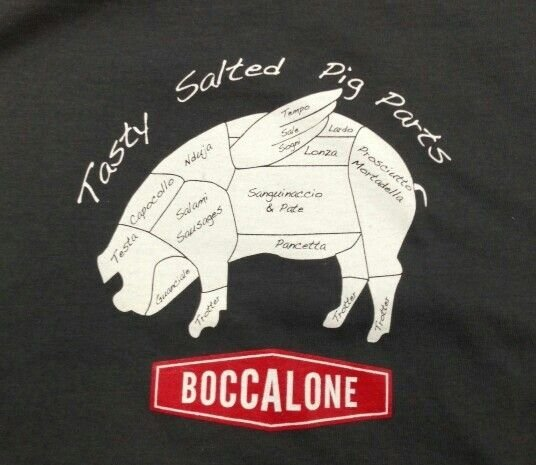 "San Francisco's Boccalone Salumeria offers a Piglet gift box that includes a ""Tasty Pig Parts"" T-shirt, salami and whole-grain mustard, a perfect present for any foodie. (Boccalone Salumeria)"