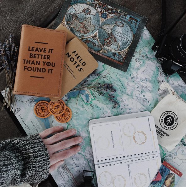 T-shirts, field notebooks and National Park bandanas abound at the Parks Project, which is sharing its revenues with Muir Woods, Yosemite and other National Parks. (Photo: Parks Project)