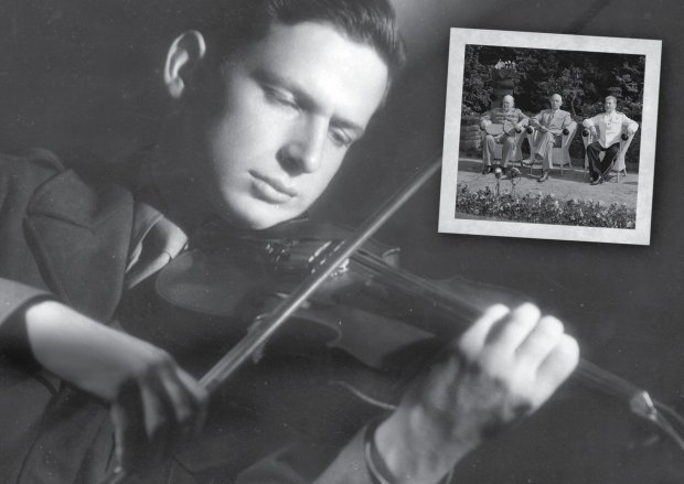 "Stuart Canin plays the violin in a still from ""The Rifleman's Violin) (Silicon Valley Jewish Film Festival)"