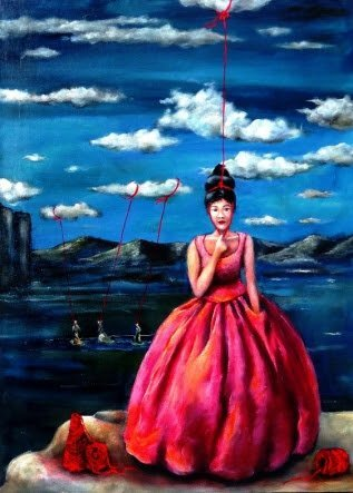 Sausalito's Madrigal Family Winery tasting room is home to an art gallery, as well. The latest in the winery's Bay Area Art and Wine exhibit series features cultural surrealist Cynthia Tom's work. (Photo: Madrigal Family Winery)
