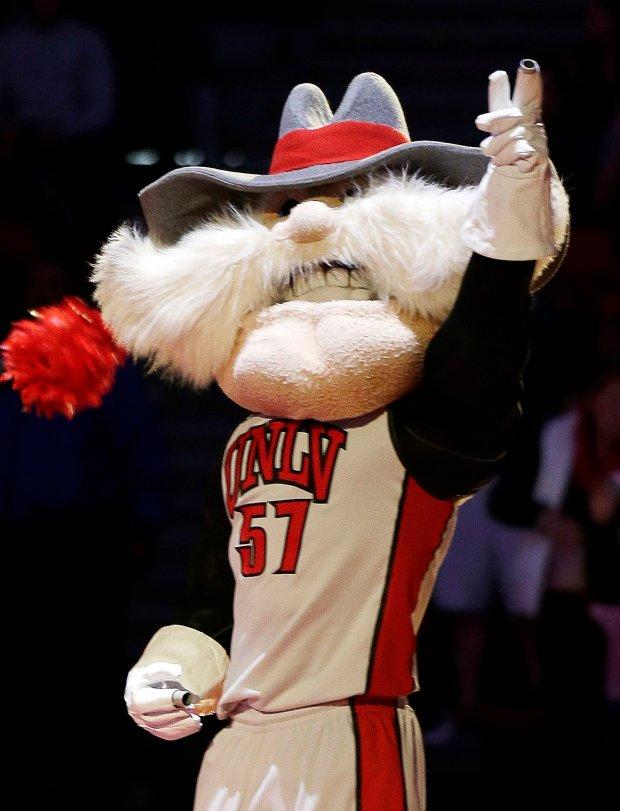 UNLV mascot Hey Reb! (AP Photo/Isaac Brekken, File)