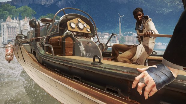 """Meagan Foster is one of Emily Kaldwin's allies in """"Dishonored 2."""" Foster captains the ship, the Dreadful Wale."""