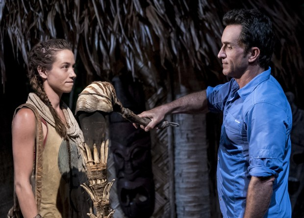 """I'm the Kingpin"" - Jeff Probst addresses Michelle Schubert at Tribal Council on the eighth episode of SURVIVOR: Millennials vs. Gen. X, airing Wednesday, Nov. 9 (8:00-9:00 PM, ET/PT) on the CBS Television Network. Photo: Monty Brinton/CBS Entertainment ©2016 CBS Broadcasting, Inc. All Rights Reserved."