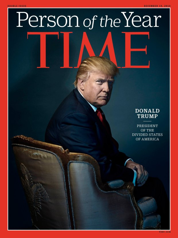 US President-elect Donald Trump as Person of the Year. (Time)