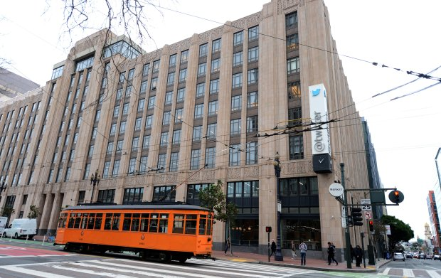 The exterior of The Market, The Market Cafe and Twitter in downtown San Francisco, Calif., photographed on Wednesday, Dec. 14, 2016. The Market follows the latest trend of food halls, mixing eateries, groceries and seating in one large space. The Market is located below the Twitter offices. (Dan Honda/Bay Area News Group)