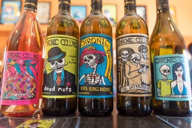 Chronic Cellars' colorful, fun wine labels.Photo credit: Courtesy of Jon Orlin