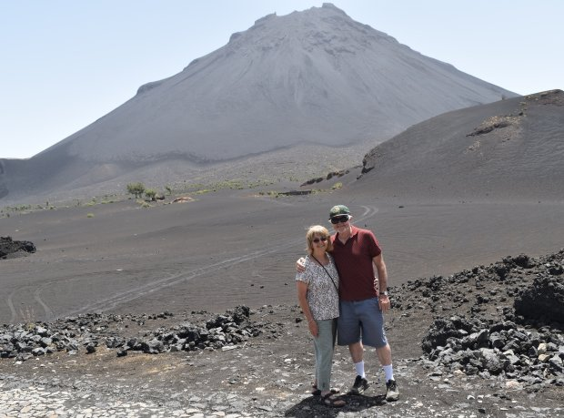 CAPE VERDE: El Sobrante residents Maddie and Jim Hogan recently returnedfrom a trip to the Cape Verde Islands off the west coast of Africa, which included a trek to the slopes of Pico do Fogo, pictured.