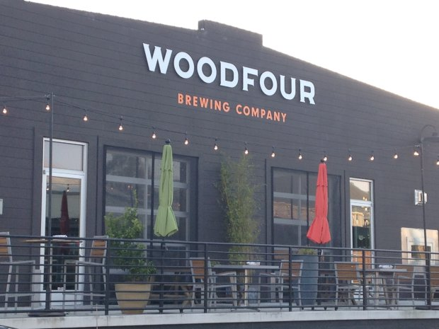 Woodfour Brewing is one of 38 shops, eateries and tasting rooms atSebastopol's The Barlow. (Jackie Burrell/Bay Area News Group)
