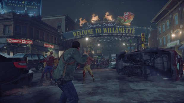 "Frank West returns to Willamette, Colorado, a fictional town where the zombie virus first spread in ""Dead Rising."""