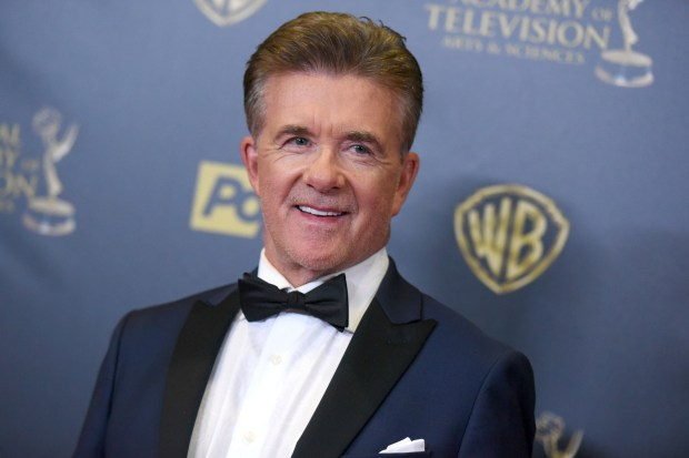 FILE - In this Sunday, April 26, 2015 file photo, Alan Thicke poses in the pressroom at the 42nd annual Daytime Emmy Awards at Warner Bros. Studios in Burbank, Calif. On Tuesday, Dec. 13, 2016, a publicist said the actor has died at the age of 69. (Photo by Richard Shotwell/Invision/AP)