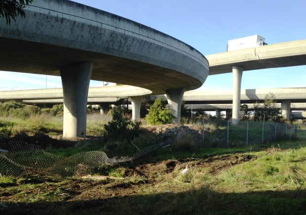 Pacifica resident Jayesh Patel died when his Mercedes plunged off a Highway 92 ramp to Highway 101 sometime after 10 p.m. on Friday, Dec. 16, 2016, in San Mateo. (Aaron Kinney/Bay Area News Group)