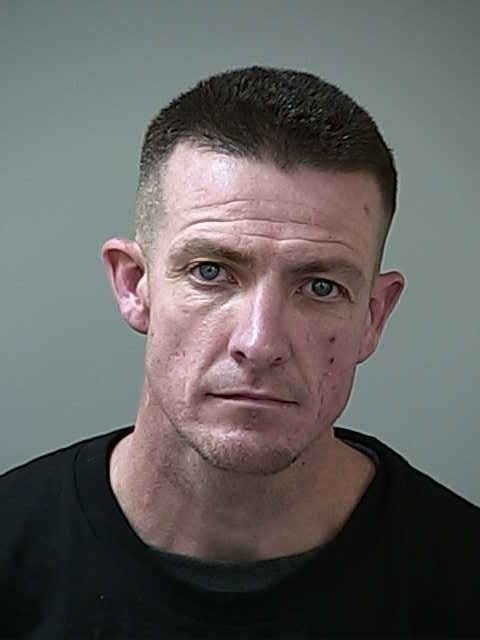 Ryan Mitchell, 35, of San Jose, was arrested Sunday on suspicion of resisting arrest, possession of stolen property, possession of burglary tools and possession of narcotics. (Courtesy of Morgan Hill Police Department)