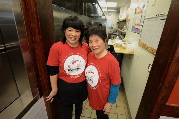 Co-owner Carol Chen, left, and her mother Jinfeng Chi, right, are photographed at Wenzhou restaurant in San Jose, Calif., on Friday, Dec. 16, 2016. Many of the dishes served at the restaurant are Chi's recipes and she still prepares fresh ingredients every morning. (Dan Honda/Bay Area News Group)