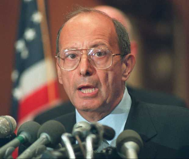 Sen. Alfonse D'Amato, R-N.Y., is shown in this June 18, 1996 file photo. D'Amato has responded to President Clinton's re-election by saying he will call off a Senate probe into the Whitewater affair. ``It's not the time to be looking at investigations, either by the banking committee or any other'' legislative panel, said D'Amato, chairman of the Senate Banking Committee, Wednesday, Nov. 6, 1996. (AP Photo/John Duricka)