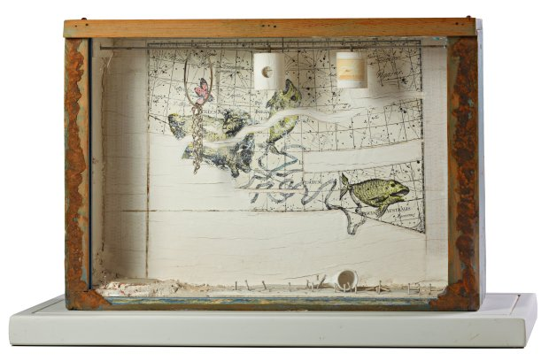 "Untitled work (Constellation), c. 1957-1959, by Joseph Cornell is featuredin ""The Conjured Life: The Legacy of Surrealism"" at the Cantor Arts Center through April 3 (© The Joseph and Robert Cornell Memorial Foundation)"