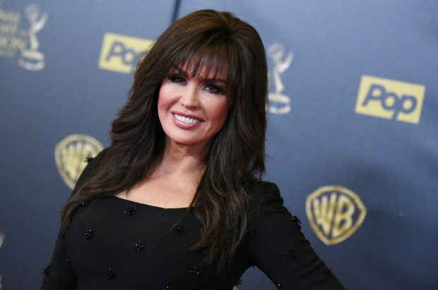 Marie Osmond poses in the pressroom at the 42nd annual Daytime Emmy Awards at Warner Bros. Studios on Sunday, April 26, 2015, in Burbank, Calif. (Photo by Richard Shotwell/Invision/AP)