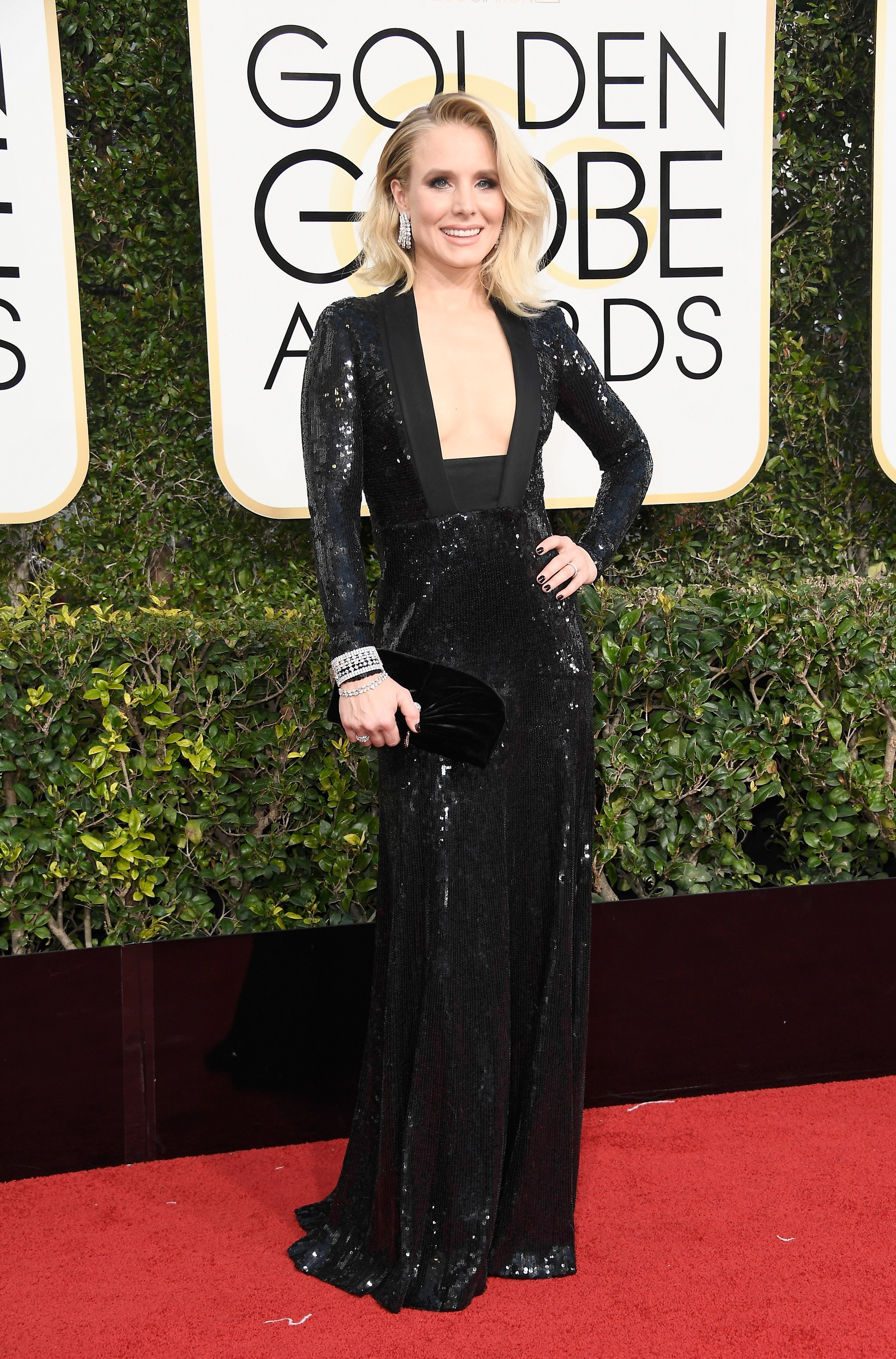 Image result for kristen bell golden globes 2017