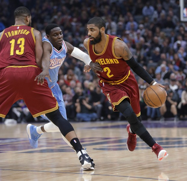 Cleveland Cavaliers guard Kyrie Irving is regarded as the finest ballhandler in the NBA. (AP Photo/Rich Pedroncelli)