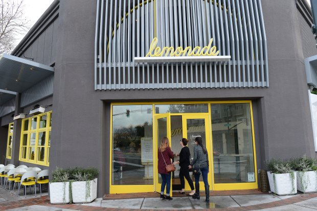 The exterior of Lemonade in Walnut Creek, Calif., photographed on Wednesday, Jan. 11, 2017. Lemonade is an example of a cafeteria style, casual, fast and healthy dining option that is becoming more popular in the Bay Area. (Dan Honda/Bay Area News Group)