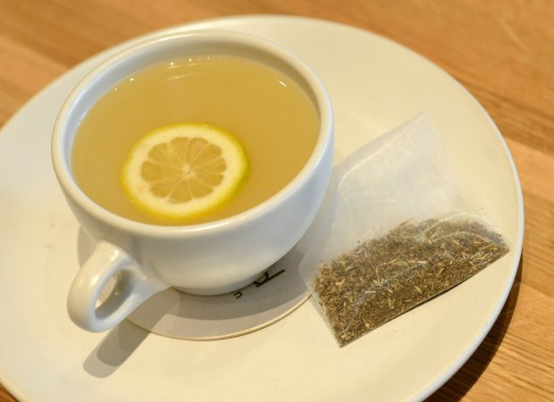 The ginger tulsi tea, with adaptogenic tea, ginger honey and lemon, photographed at True Foods Kitchen in Walnut Creek, Calif., on Wednesday, Jan. 11, 2017. True Foods Kitchen is an example of a casual, fast and healthy dining option that is becoming more popular in the Bay Area. (Dan Honda/Bay Area News Group)
