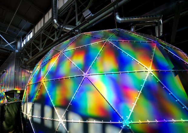 When Exploratorium moved to San Francisco's Pier 15, it introduced newexhibits and brought some of its most beloved classics, including the Tactile Dome. (Photo: Exploratorium)