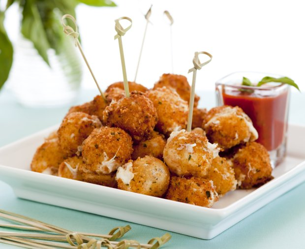 Fried mozzarella bocconcini may well be the easiest, most addictive partyappetizer ever. (Chris Andre/Parties That Cook)