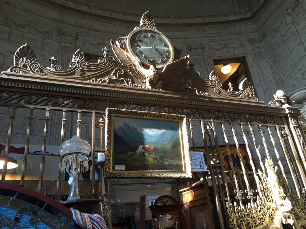 ANGELA HILL/STAFFEven the old bank vault is filled with antiques at Petaluma's Vintage Bank Antiques. The building is a magnificent 1926 Neo-Classic Revival with 32-foot ceilings and marble pillars.