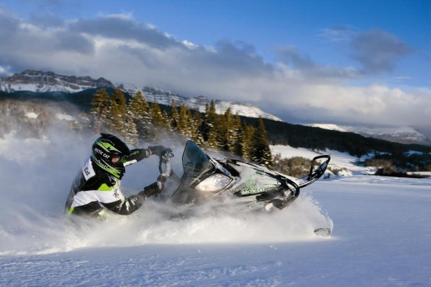 A snow mobile rider goes off trail in the Sierra high country.Credit: Lake Tahoe Adventures -- *Chuck Barney* TV columnist | Features cbarney@bayareanewsgroup.com 925-952-2685 Direct @chuckbarney bayareanewsgroup.com *Over 5 million engaged readers weekly*