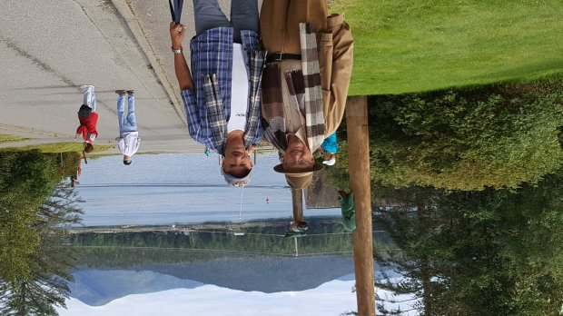 ALASKA: San Jose resident Jim Laumond, left, and Campbell's Vince Navarratook a Holland America cruise from Seattle to Alaska to celebrate Navarra's 65th birthday. (Courtesy Vince Navarra)