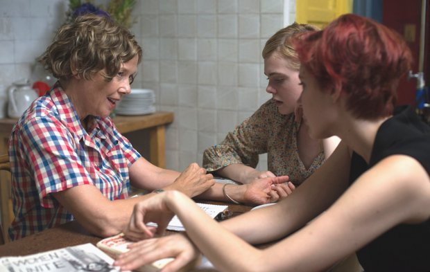 "Annette Bening, left, Elle Fanning and Greta Gerwig in ""20th CenturyWomen."" (A24)"