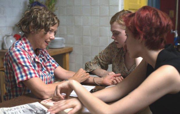 "Annette Bening, left, Elle Fanning and Greta Gerwig in ""20th CenturyWomen."" (A24)"