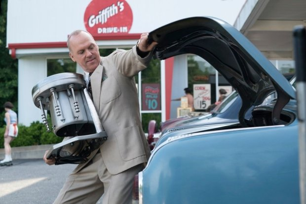 """This image released by The Weinstein Company shows Michael Keaton in a scene from, """"The Founder."""" (Tina Rowden/The Weinstein Company via AP)"""